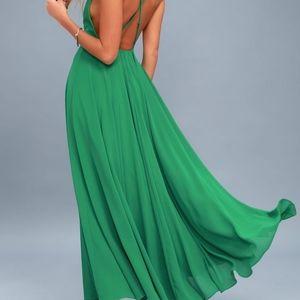 NWT Lulu Mythical Kind of Love Green Dress Small